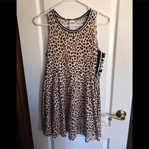 PINK Victoria Secret leopard Skater Dress